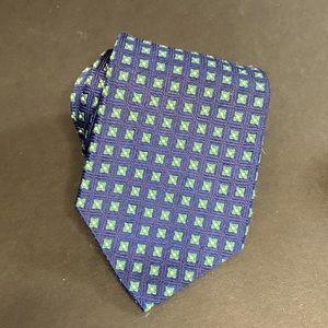Brooks brothers mini floral navy green silk tie